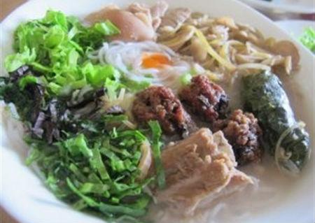 Bún bung hoa chuối món đặc sản Thái Bình