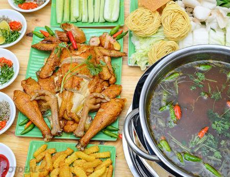Cách nấu lẩu gà ớt hiểm cay thơm ngon mê mẩn