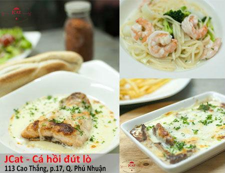 JCAT - Cá hồi đút lò - Phong cách ẩm thực Châu Âu