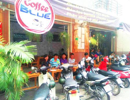 Coffee Blue – Không gian café đẹp ở Sài Gòn