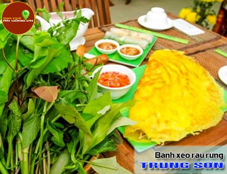 Bánh xèo rau rừng Trung Sơn - Ăn là ghiền
