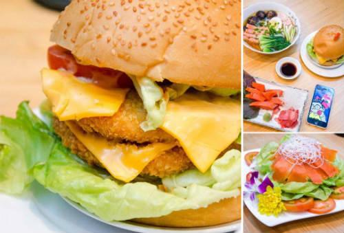 Burger cá hồi đỏ Canada, Burger cá hồi đỏ Canada ở phú nhuận, địa chỉ quán Burger cá hồi đỏ Canada, Burger cá hồi đỏ, quán Burger cá hồi đỏ Canada, Burger cá hồi đỏ phan xích long
