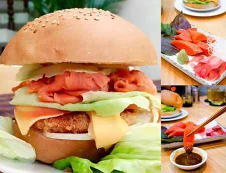 Burger cá hồi đỏ Canada (Phan Xích Long) - Thưởng thức Burger cá hồi ngon tuyệt đỉnh!