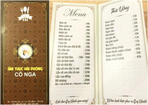 Ẩm thực Hải Phòng Cô Nga - Quán đặc sản Hải Phòng độc đáo ở Sài Gòn