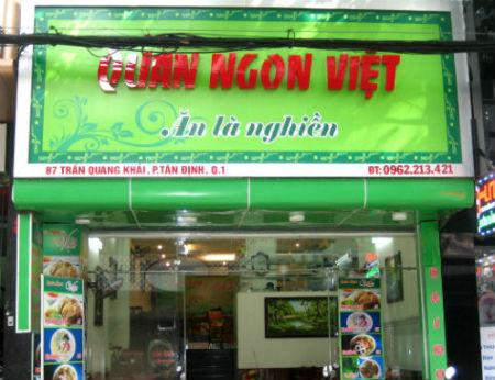 Quán Ngon Việt – Nem Vuông Cua Biển Ngon ở Quận 1